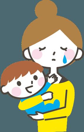 産後の不調の女性イラスト