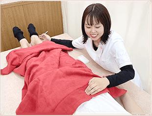 妊活鍼灸の様子